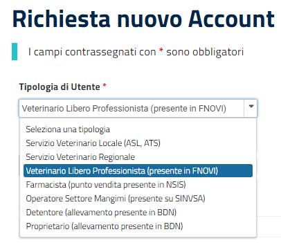 Ricetta Veterinaria Account.Richiesta Account Ricetta Veterinaria Elettronica